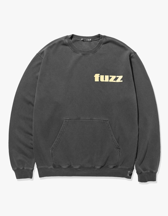 Fuzz FUZZ PIGMENT DYED POCKET SWEATSHIRT black | HEIGHTS. | 하이츠 온라인 스토어