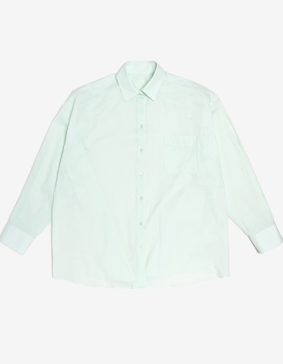 s/e/o Cotton Boxy Shirt - Mint | HEIGHTS. | 하이츠 온라인 스토어