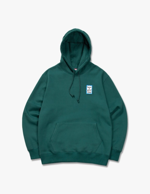 have a good time Blue Mini Frame Pullover Hoodie - Smokey Green | HEIGHTS. | 하이츠 온라인 스토어