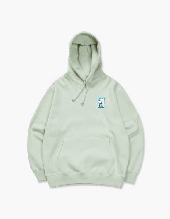 have a good time Blue Mini Frame Pullover Hoodie - Pistachio | HEIGHTS. | 하이츠 온라인 스토어
