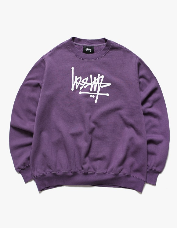 Stussy Flip Crew Fleece - Berry | HEIGHTS. | 하이츠 온라인 스토어