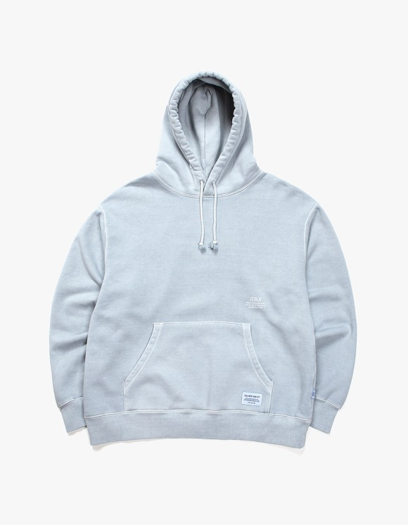 IZOLA NYC Over Dyed Hoodie - Powder Blue | HEIGHTS. | 하이츠 온라인 스토어