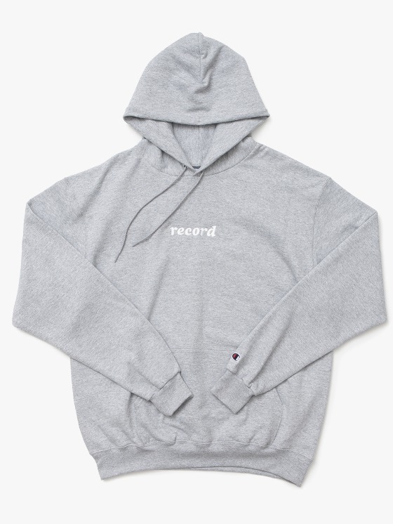 sounds good! Record Hoodie - Grey | HEIGHTS. | 하이츠 온라인 스토어