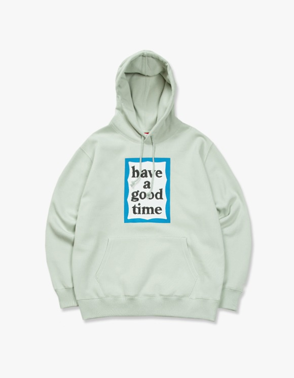 have a good time Blue Frame Pullover Hoodie - Pistachio | HEIGHTS. | 하이츠 온라인 스토어