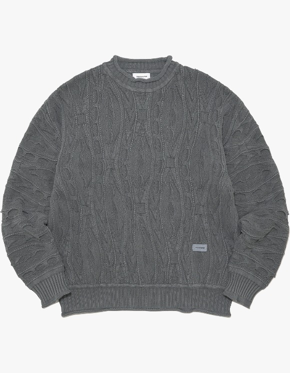 thisisneverthat Overdyed Knit Sweater - Charcoal | HEIGHTS. | 하이츠 온라인 스토어