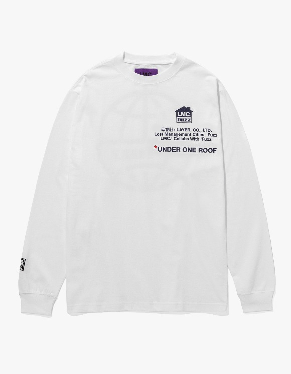 LMC LMC x FUZZ HOUSE LONG SLV TEE white | HEIGHTS. | 하이츠 온라인 스토어