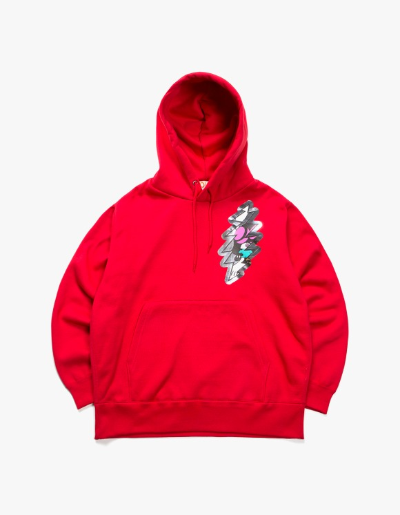 Skoloct SKO Thunder Over Heavy Weight Hoodie - Red | HEIGHTS. | 하이츠 온라인 스토어