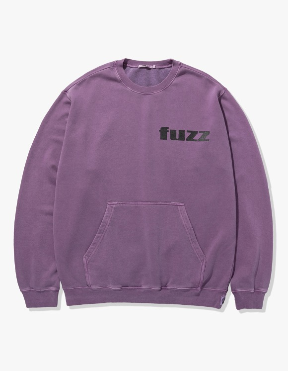 Fuzz FUZZ PIGMENT DYED POCKET SWEATSHIRT purple | HEIGHTS. | 하이츠 온라인 스토어