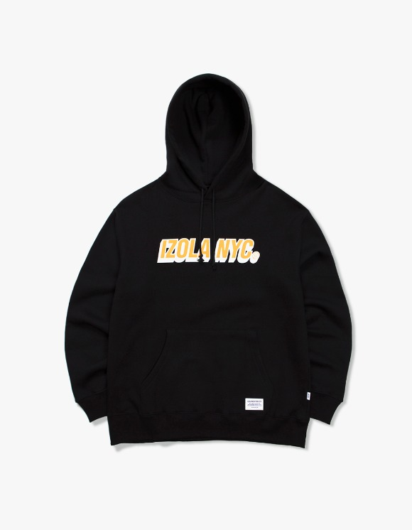 IZOLA NYC 3D Logo Hoodie - Black | HEIGHTS. | 하이츠 온라인 스토어
