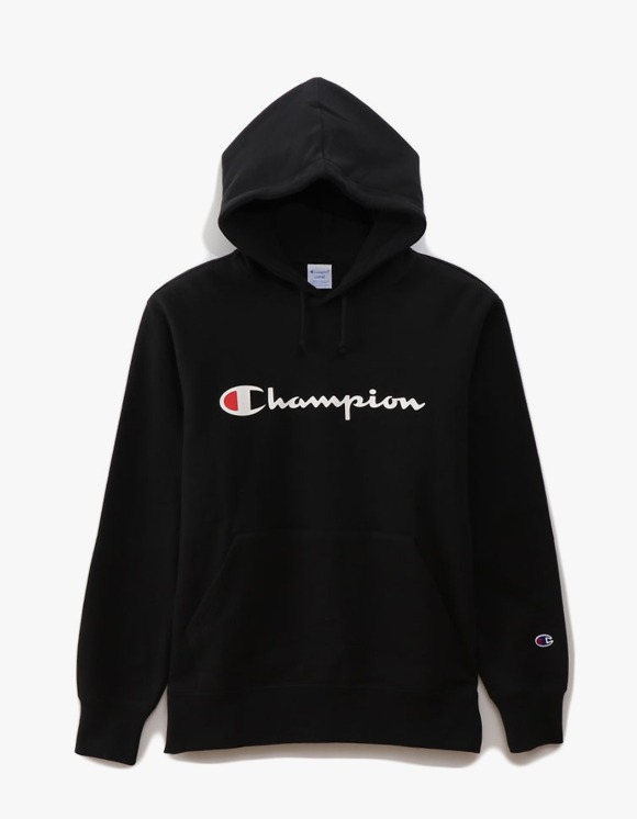 Champion Logo Pullover Hoodie - Black | HEIGHTS. | 하이츠 온라인 스토어