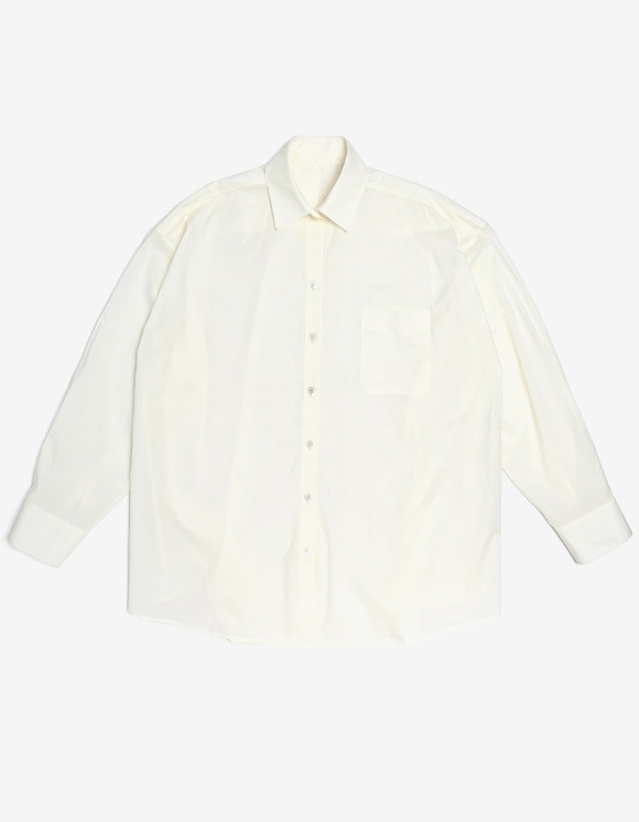 s/e/o Cotton Boxy Shirt - Ecru | HEIGHTS. | 하이츠 온라인 스토어