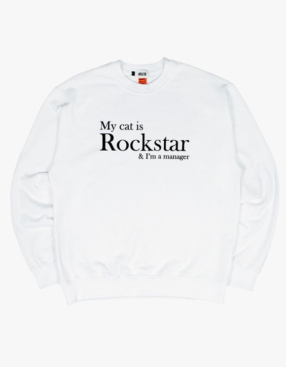 JOEGUSH My cat is Rockstar & I'm a manager SWEATSHIRT Ver. - White | HEIGHTS. | 하이츠 온라인 스토어