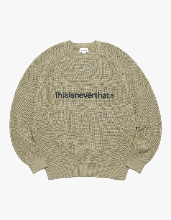 thisisneverthat T-Logo Knit Sweater - Beige | HEIGHTS. | 하이츠 온라인 스토어