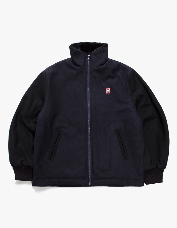 have a good time Zip-Up Wool Stardium Jacket - Navy | HEIGHTS. | 하이츠 온라인 스토어