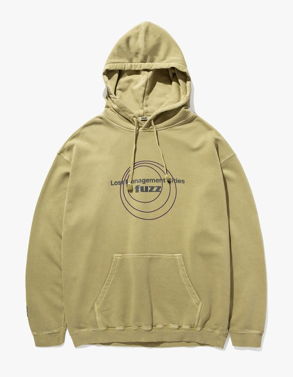LMC LMC x FUZZ CIRCLE HOODIE olive | HEIGHTS. | 하이츠 온라인 스토어