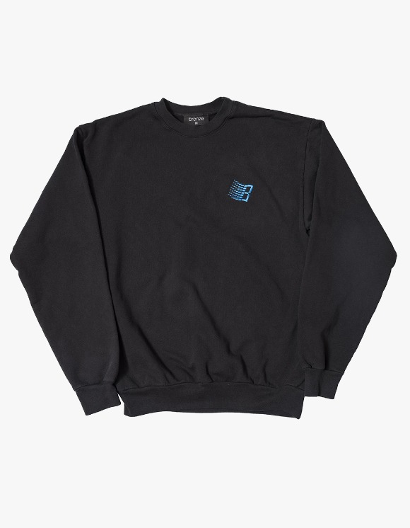 BRONZE56k Embroidered B Logo Crewneck - Black | HEIGHTS. | 하이츠 온라인 스토어