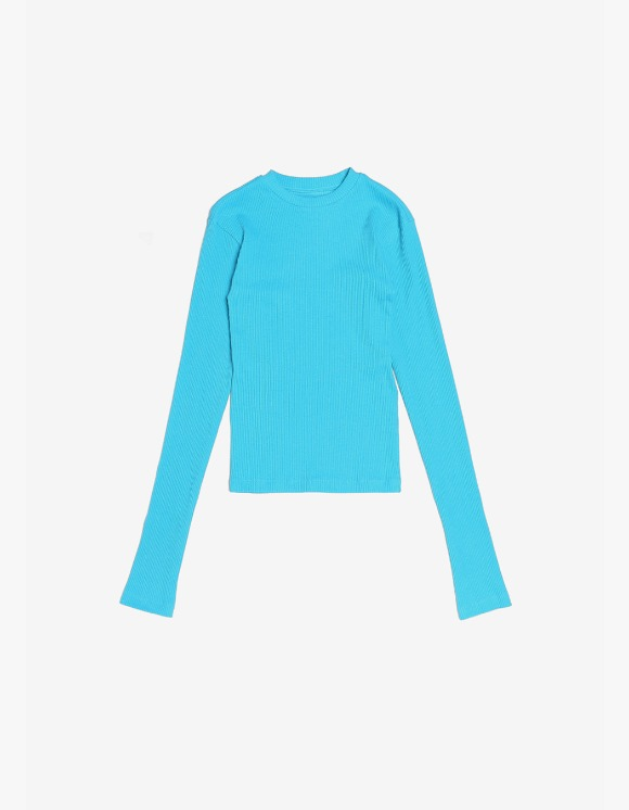 s/e/o Ribbed Slim Tee - Aqua Blue | HEIGHTS. | 하이츠 온라인 스토어