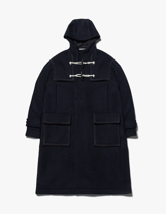 AECA WHITE Finale Duffle Coat - Deep Navy | HEIGHTS. | 하이츠 온라인 스토어