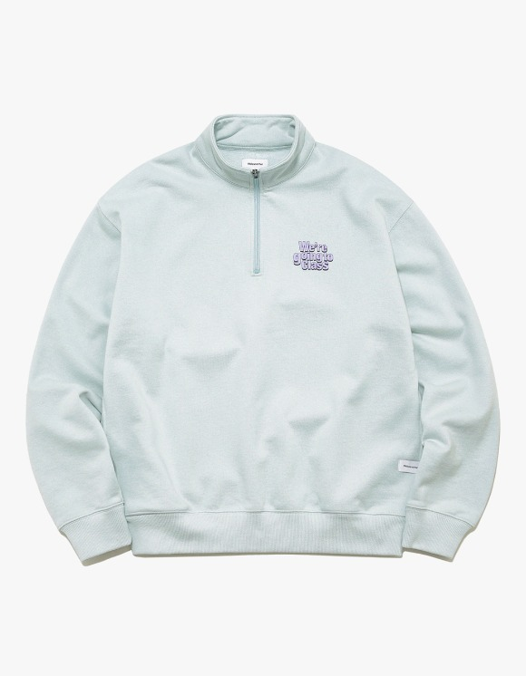 thisisneverthat GOING TO CLASS Half ZIP Pullover - Sky Blue | HEIGHTS. | 하이츠 온라인 스토어
