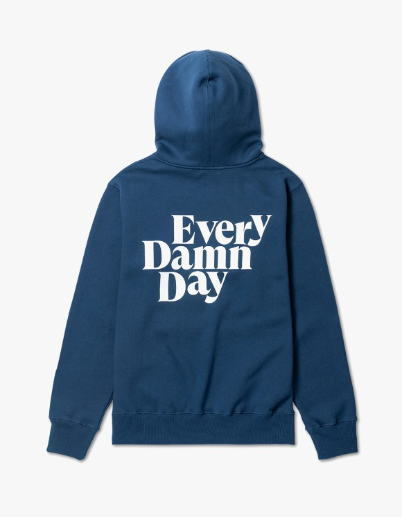 Kompakt Record Bar Every Damn Day Hoodie - Navy/White | HEIGHTS. | 하이츠 온라인 스토어