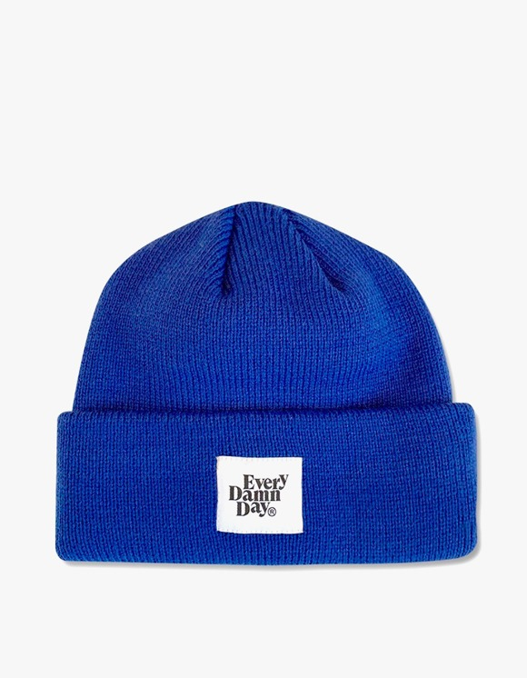 Kompakt Record Bar Every Damn Day Beanie - Blue | HEIGHTS. | 하이츠 온라인 스토어