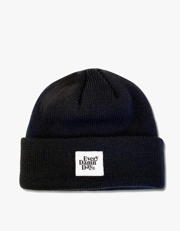 Kompakt Record Bar Every Damn Day Beanie - Black | HEIGHTS. | 하이츠 온라인 스토어