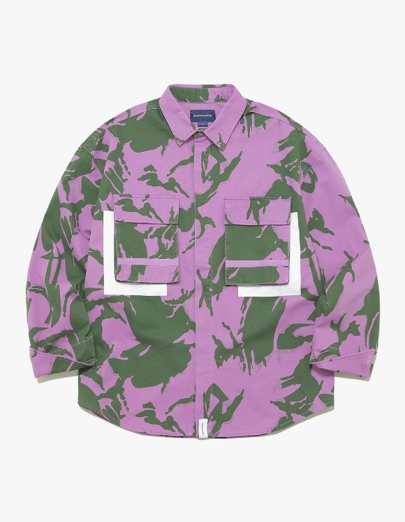 thisisneverthat Jungle Shirt Jacket - Purple Camo | HEIGHTS. | 하이츠 온라인 스토어