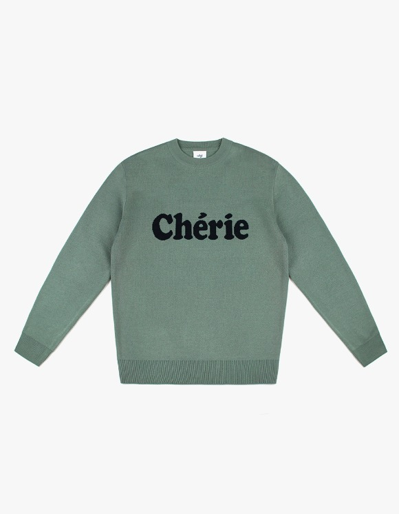 CLIF Cherie Wool Knit - Olive Green | HEIGHTS. | 하이츠 온라인 스토어