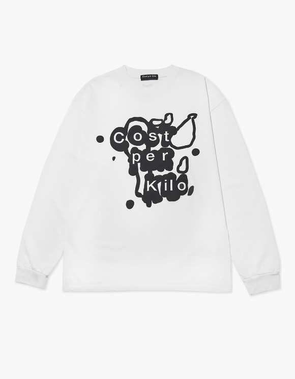 Cost Per Kilo Splatter Logo L/S Tee - Off White | HEIGHTS. | 하이츠 온라인 스토어