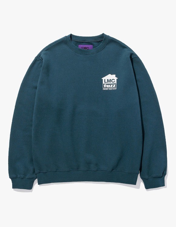 LMC LMC x FUZZ HOUSE SWEATSHIRT teal green | HEIGHTS. | 하이츠 온라인 스토어
