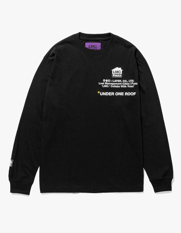 LMC LMC x FUZZ HOUSE LONG SLV TEE black | HEIGHTS. | 하이츠 온라인 스토어