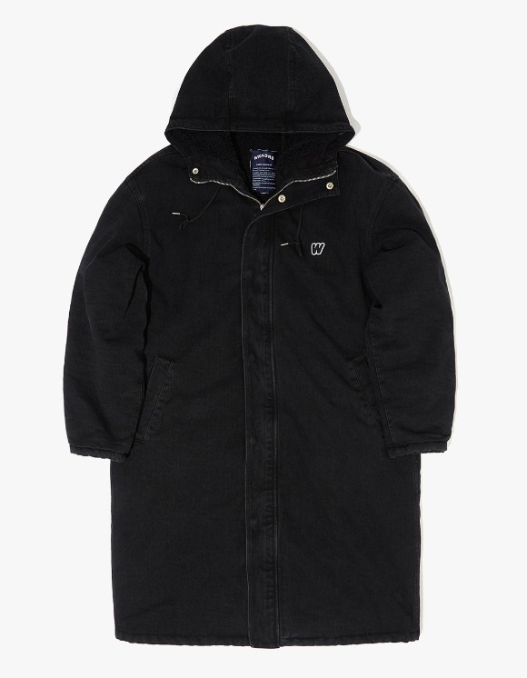 WKNDRS Denim Hooded Parka - Black | HEIGHTS. | 하이츠 온라인 스토어