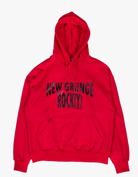 JOEGUSH NEW GRUNGE ROCK(Y) Hoodie Lv.1 - Red | HEIGHTS. | 하이츠 온라인 스토어