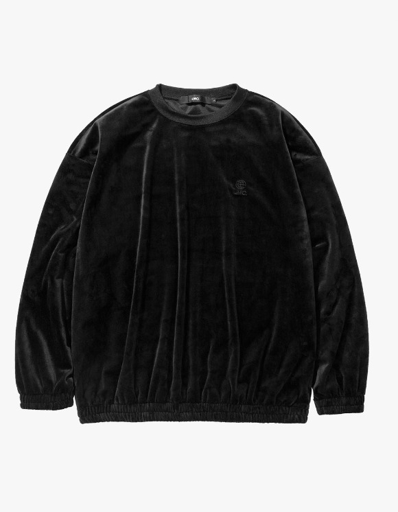 LMC LMC VELOUR OVERSIZED SWEATSHIRT black | HEIGHTS. | 하이츠 온라인 스토어