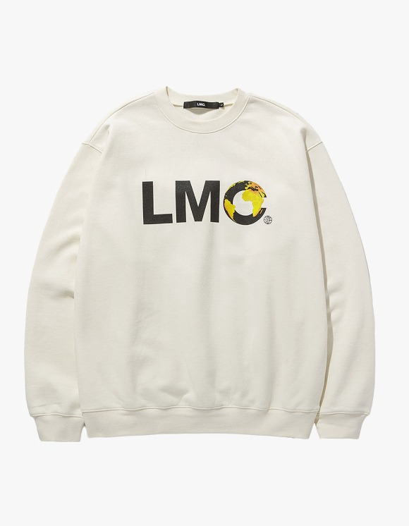 LMC LMC EARTH LOGO SWEATSHIRT cream | HEIGHTS. | 하이츠 온라인 스토어