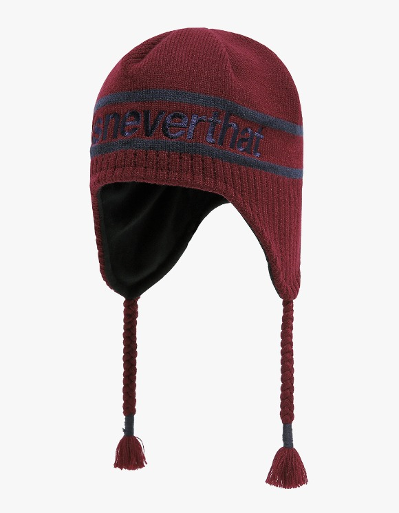 thisisneverthat SP Ear Flap Beanie - Burgundy | HEIGHTS. | 하이츠 온라인 스토어