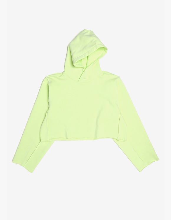 s/e/o Cropped Hoodie - Lime | HEIGHTS. | 하이츠 온라인 스토어
