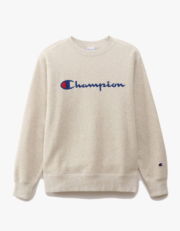 Champion Logo Crewneck Sweatshirts - Oatmeal | HEIGHTS. | 하이츠 온라인 스토어
