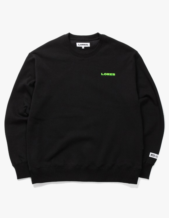 LORES Logo Crewneck - Black | HEIGHTS. | 하이츠 온라인 스토어