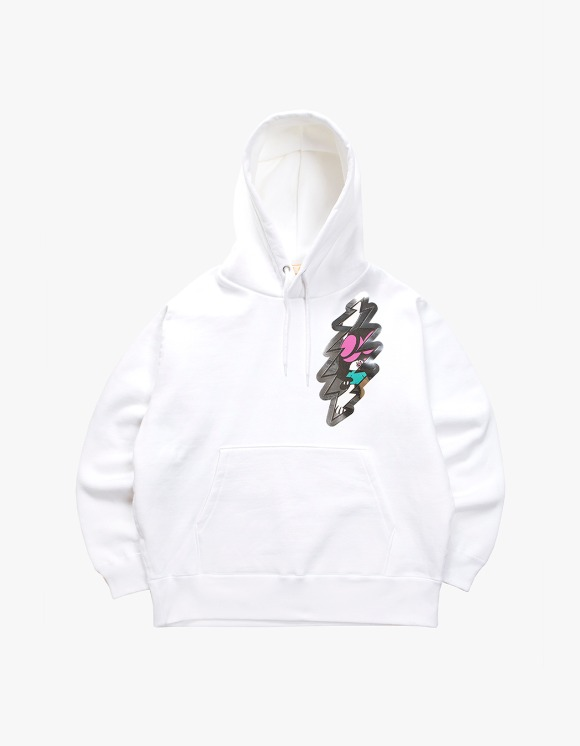 Skoloct SKO Thunder Over Heavy Weight Hoodie - White | HEIGHTS. | 하이츠 온라인 스토어