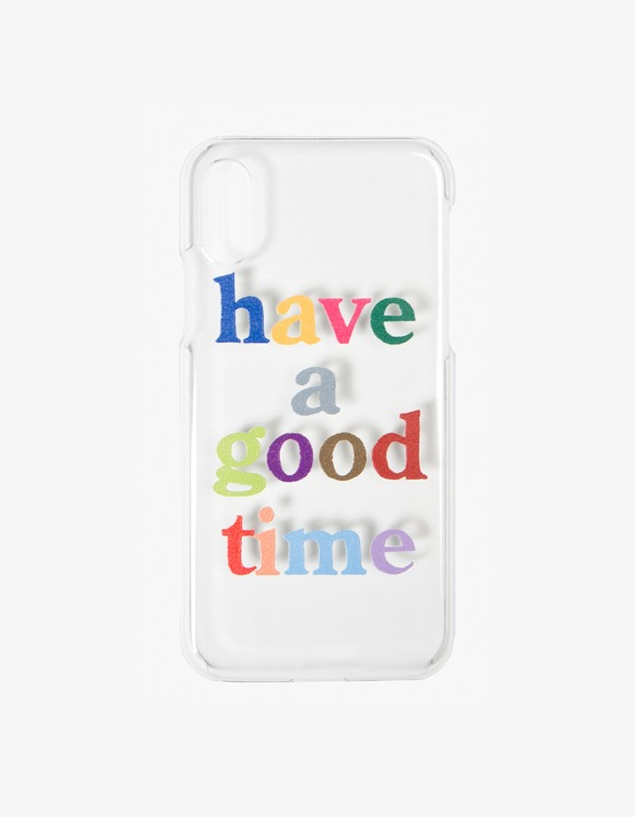 have a good time Colorful Logo Clear iPhone Case - X,XS | HEIGHTS. | 하이츠 온라인 스토어