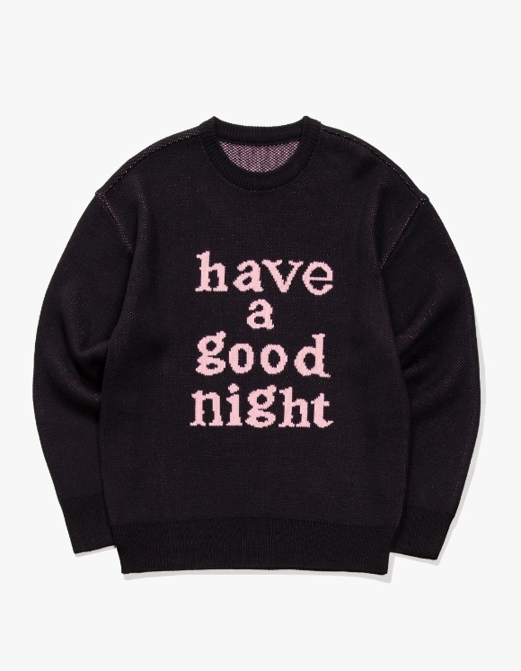 have a good time Have a good Night Knit Sweater - Black | HEIGHTS. | 하이츠 온라인 스토어
