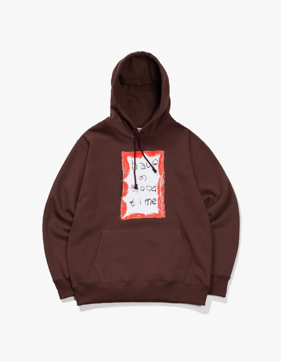 have a good time Crayon Frame Pullover Hoodie - Chocolate | HEIGHTS. | 하이츠 온라인 스토어