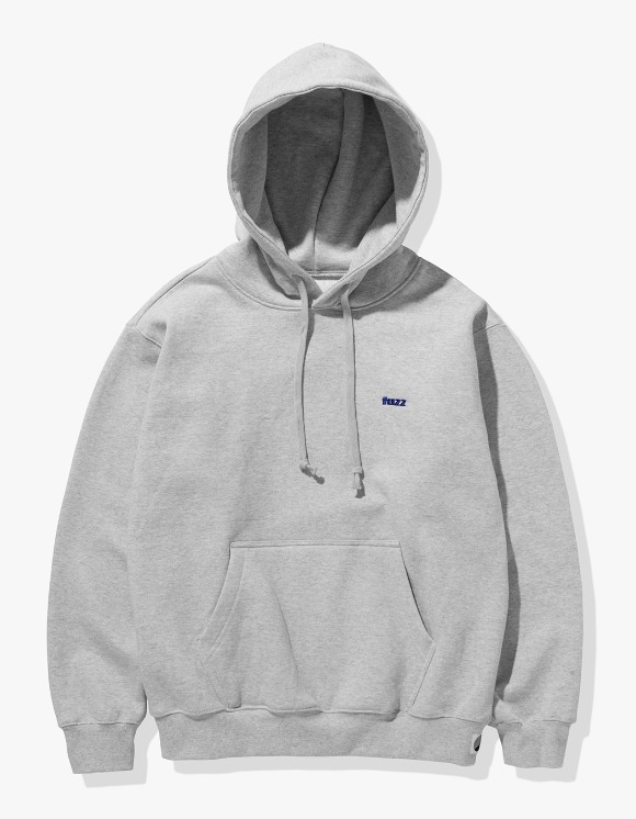 Fuzz FUZZ BASIC LOGO HOODIE melange gray | HEIGHTS. | 하이츠 온라인 스토어