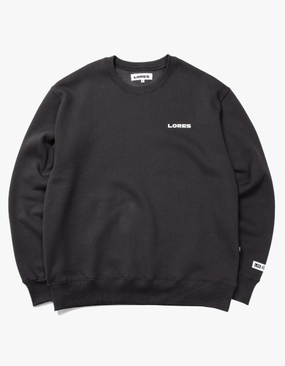 LORES Logo Crewneck - Charcoal Grey | HEIGHTS. | 하이츠 온라인 스토어