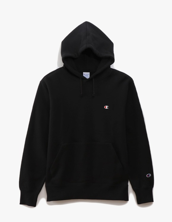 Champion Basic Pullover Hoodie - Black | HEIGHTS. | 하이츠 온라인 스토어