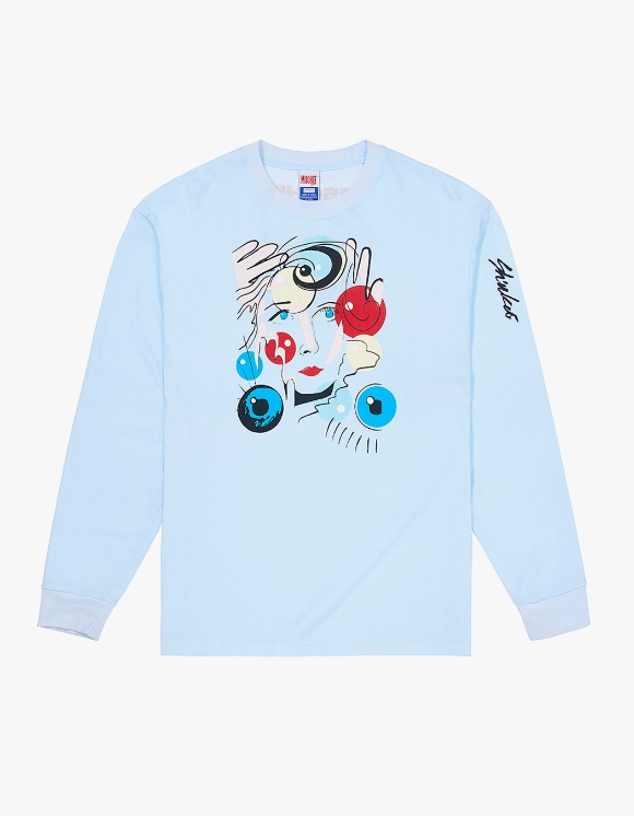 MISCHIEF SHIUKAI ALIFE X MSCHF Bobble Face Tee - Baby Blue | HEIGHTS. | 하이츠 온라인 스토어