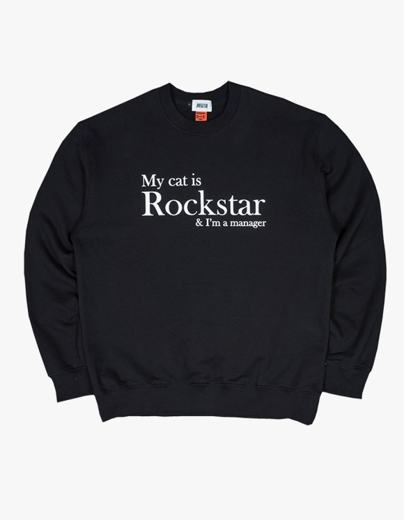 JOEGUSH My cat is Rockstar & I'm a manager SWEATSHIRT Ver. - Black | HEIGHTS. | 하이츠 온라인 스토어