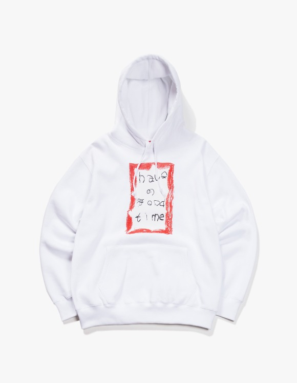 have a good time Crayon Frame Pullover Hoodie - White | HEIGHTS. | 하이츠 온라인 스토어