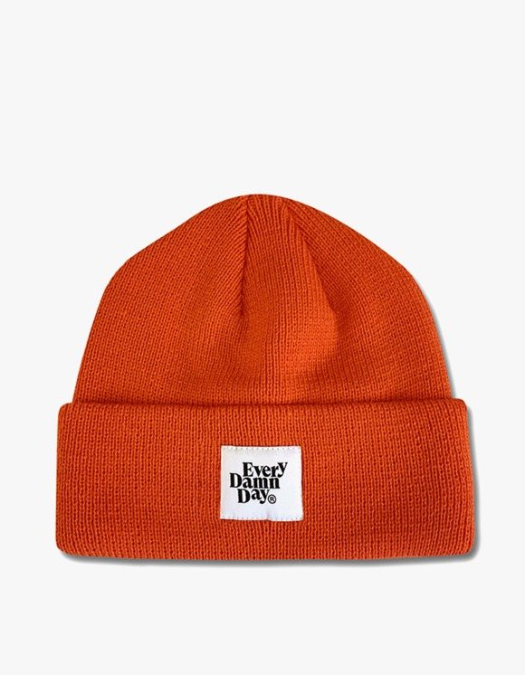 Kompakt Record Bar Every Damn Day Beanie - Orange | HEIGHTS. | 하이츠 온라인 스토어